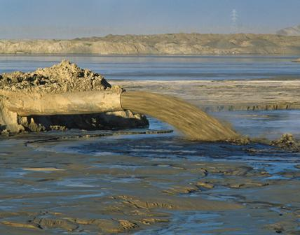 Tar sands tailings pipeline in Canada