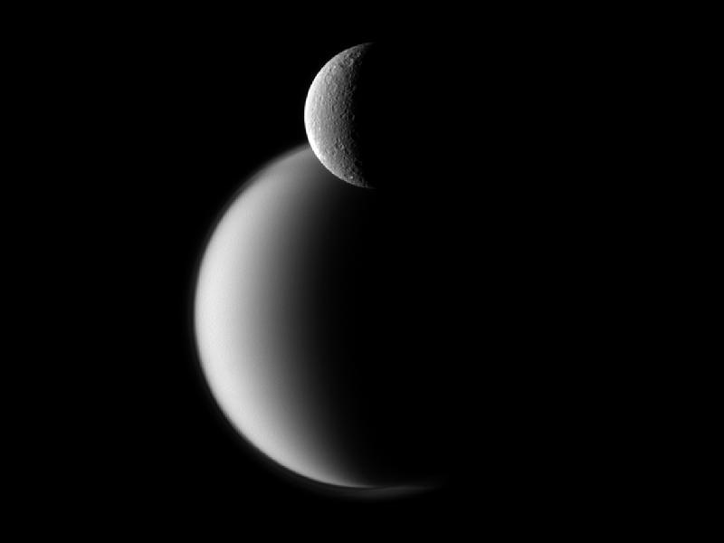 NASA-Rhea Before Titan
