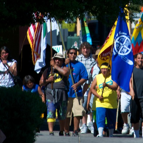Moapa Band of Pauites Earth day march2