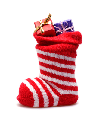 Holiday stocking with gifts
