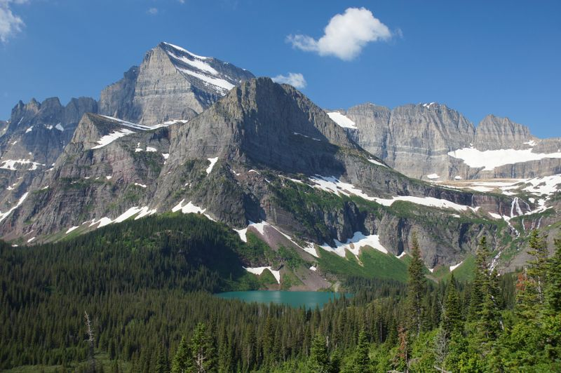 Grinnell Glacier and Mt
