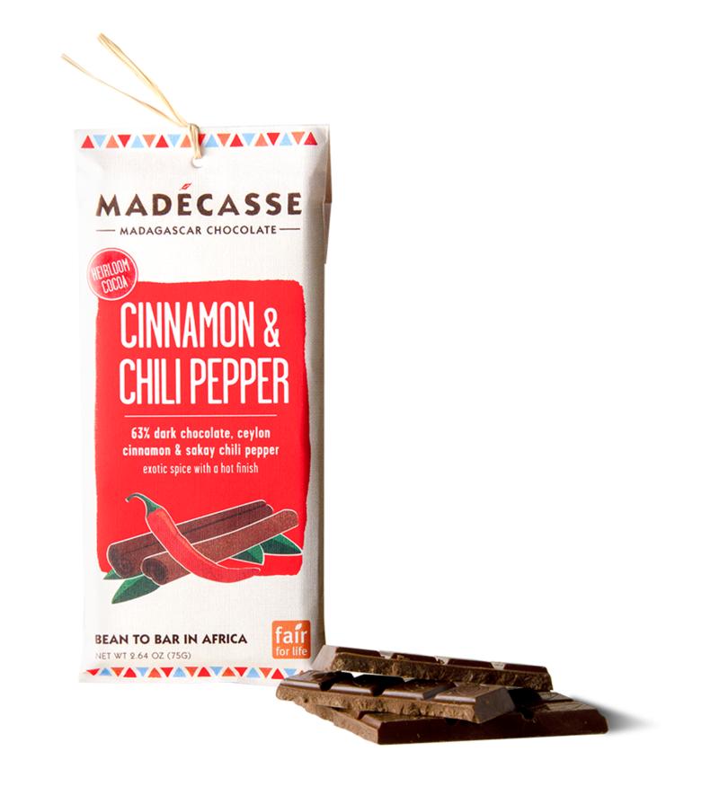 Madecasse Chocolate, cinnamon and chili pepper