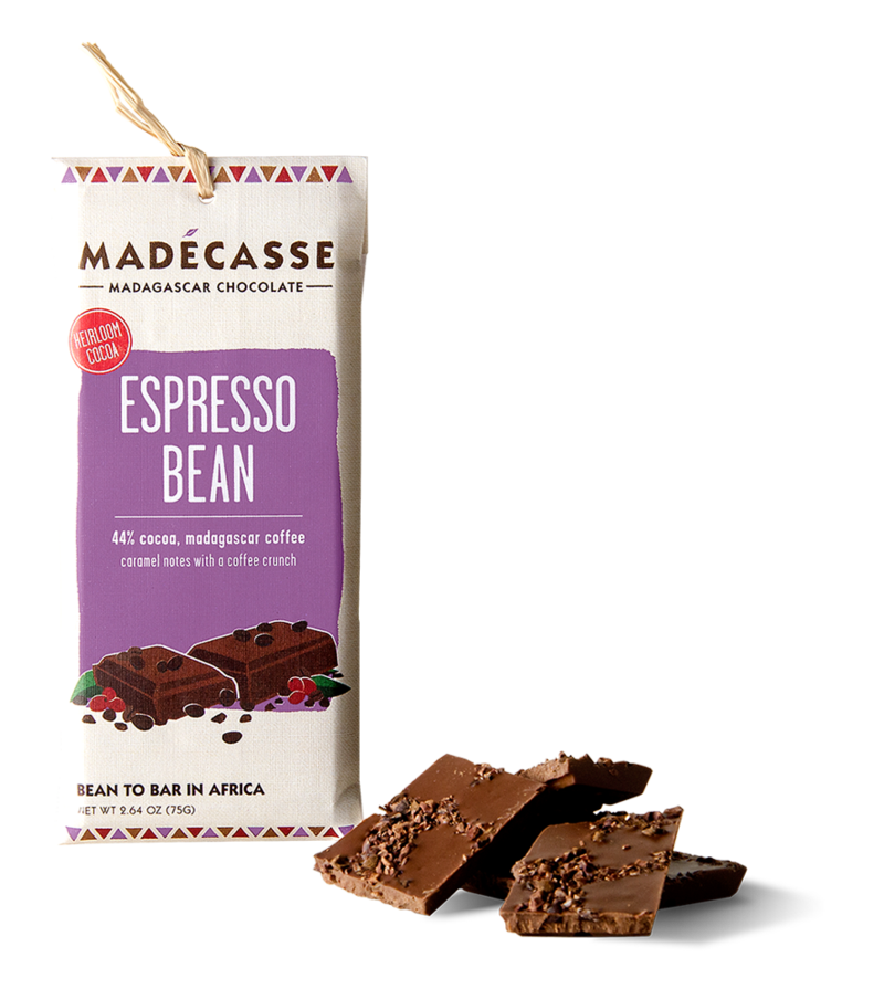 Madecasse Chocolate, espresso bean