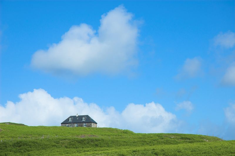 A cottage on Eigg, Scotland's most sustainable island