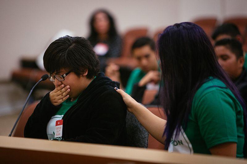 Selene testifying EJ photo